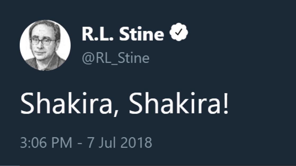 R.L. Stine Twitter Funny